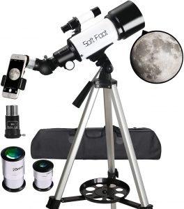 Soft Foot Telescopes for Astronomy Beginners,70mm Aperture 400mm AZ Mount
